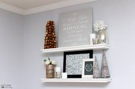 a diy sign and christmas shelf decor behr holiday hues just a