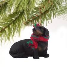1 x dachshund miniature ornament black