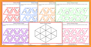 ks1 and ks2 fractions of amounts tarsia game tri jigsaw