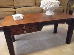 my coffee table from old desk hometalk