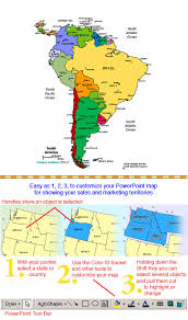 map of america with country names south america regional powerpoint continent map countries names