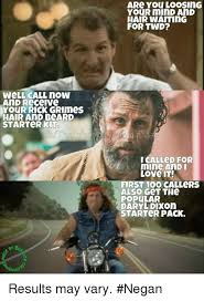 Rick Grimes Memes - well call now and receive your rick grimes hair ani beard starter