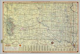 map south dakota shell highway map of south dakota david rumsey historical map