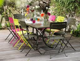chaises fermob cet ensemble fermob chaises slim et table à allonge deauville