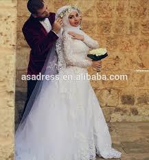 muslim wedding dress 2015 sleeve lace removable muslim wedding