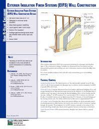 etw wall exterior insulation finish systems eifs wall