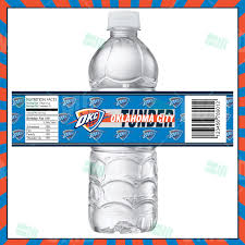 sports invites oklahoma city thunder bottle labels