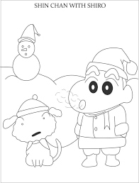 shinchan coloring pictures added henry u2013 free printables