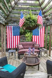 Porch Flags Easy And Elegant 4th Of July Party Ideas