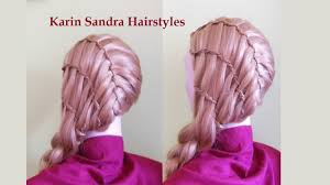 triple waterfall french braid with 6 braids braided hairstyle