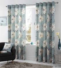 Curtains Floral Give Your Home The New Look Using The Evergreen Blue Curtains