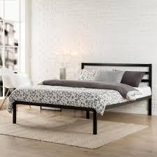 bedroom fabric headboard king size platform white beds