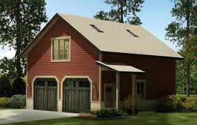 Garage With Loft Plan 72822da 2 Car Country Style Garage With Rec Room Garage