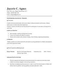 curriculum vitae exle for new teacher resume template for teachers collaborativenation com