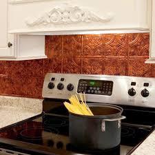 copper backsplash kitchen home design