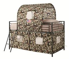 Youth Bunk Beds Coaster Furniture 460331 Camouflage Print Tent Youth Loft Bunk Bed