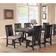 oval dining table set for 6 modus round yosemite 7 piece oval dining table set with wood chairs