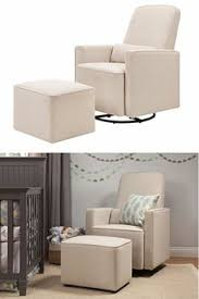 davinci olive upholstered swivel glider with bonus ottoman grey on our list of the best rockers and gliders is the stork craft hoop