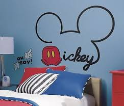 Disney Room Decor All About Mickey Mouse Giant Wall Decals New Disney Room Stickers