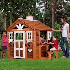 backyard cottage playhouse backyard landscaping photo gallery