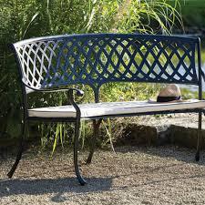 bramblecrest amalfi curved cast aluminium garden bench internet