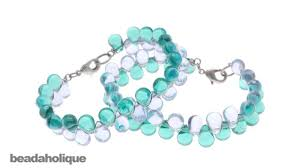 drop bead how to make a wire wrapped glass drop bead bracelet