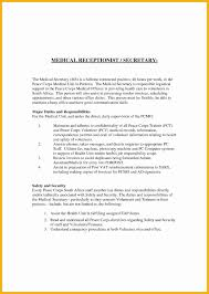 Job Resume For Receptionist by Medical Receptionist Resume Sample For Hotel Exam Splixioo