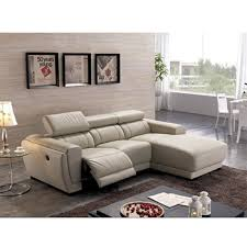 French Style Chaise Lounge Chairs Chaise Lounge French Style Genuine Leather Recliner L Shape Sofa