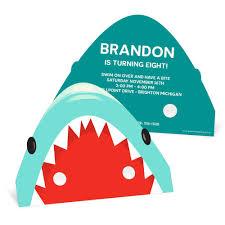 shark mask kids birthday invitations pear tree