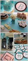 Baby Blue And Brown Baby Shower Decorations Real Party Tiffany Blue And Brown Shower