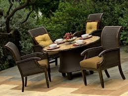 Outdoor Woven Chairs Circular Patio Furniture Set Patio Decoration