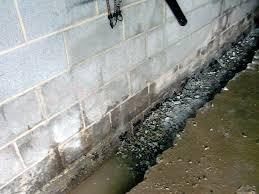 backyard interior basement drainage system waterproofing