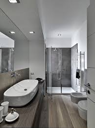 Bathroom Floor To Roof Charcoal by 35 Master Bathrooms With Wood Floors Pictures Modern Color