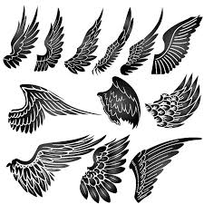 simple wing tattoo stencil all rights reserved established 2010