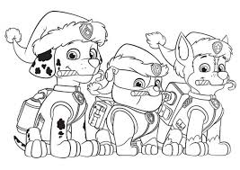 paw patrol preschool coloring pages print 21704