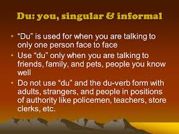 si e du s at du ihr and sie how do you which one to use ppt