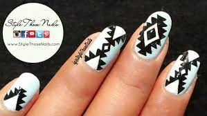 how to do aztec tribal nailart 2 easy designs diy nail art youtube