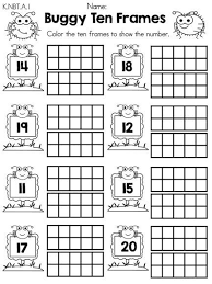 free ten frame worksheets k nbt a 1 math ideas pinterest
