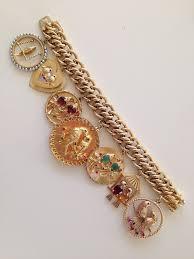 charm bracelet gold vintage images Vintage 1950s 1960s 14k gold charm bracelet w large love bird jpg