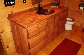charming rustic pine bathroom vanities and sink consoles