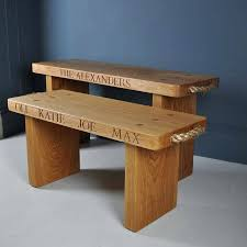 small wooden bench diy personalised solid oak bench small wooden
