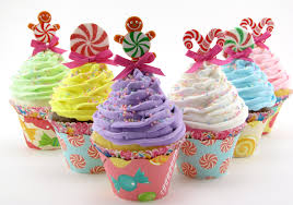 candy land fake cupcakes set 6 standard size cupcakes candy