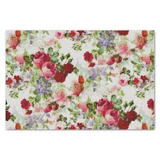 floral tissue paper trendy vintage and pink floral print tissue paper zazzle