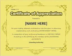certificates of appreciation free certificate of appreciation