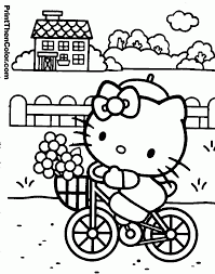 kids hello kitty coloring pages coloring home