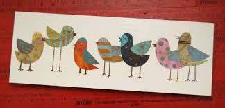 Bird Decor For Nursery Bird Prints And Blocks Collection W Golden