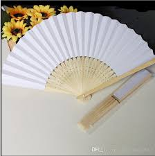 wedding paper fans fans blank paper fan wooden folding fan set of 50