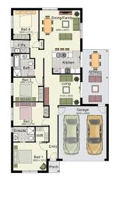 Double Garage Plans The Glenbrook 187 Offers Four Bedrooms Two Bathrooms And A Double