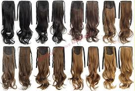 wholesale hair wholesale fashion drawstring ribbon wavy curly ponytails hair