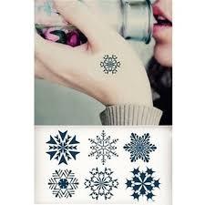 snowflakes temporary tattoo christmas fake tattoos stick on